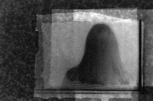"Patricia A. Bender   – ""Ella Marie"" unique oxidized gelatin silver print- film + photogram"