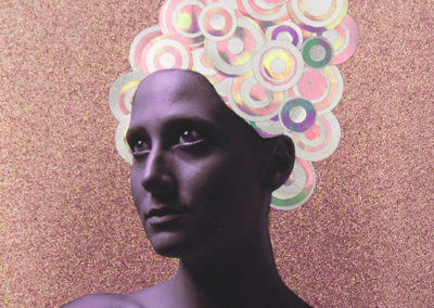 "Jaimie McLaughlin   – ""She Puts the ""G"" in Groovy"" mixed media/photography"