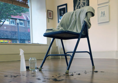 """Norah Gunn – """"Acting in Spite of my Mother's  Hands"""" art performance, (during opening reception)"""