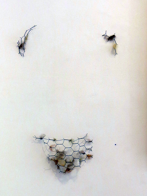 "Christy E. O'Connor   – ""Dirty"" mixed media wire sculpture"