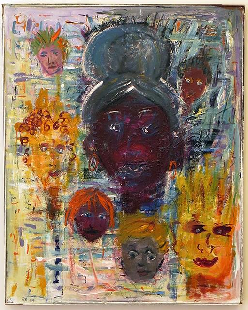 "Rita Herzfeld  – ""Different Doos"" acrylic on canvas"