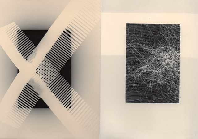 "Patricia A. Bender  – ""Tangles"" unique oxidized gelatin silver photograms"
