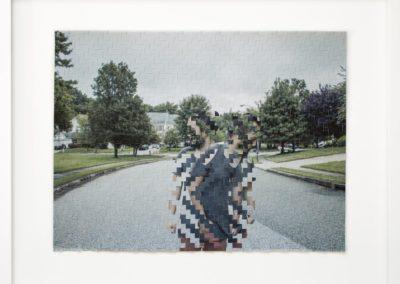 """Jason Chen's """"Dislocated""""  – Hand-woven archival pigment print"""