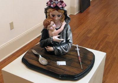 "Kelsey Austin – ""Tami and Bobbie"" Ceramic, acrylic, wood, mixed media"