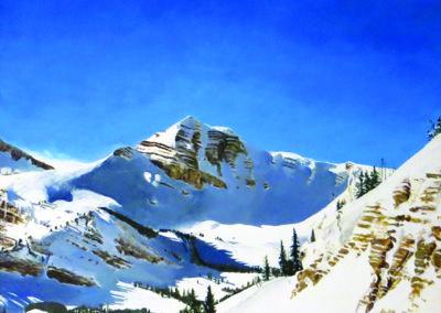 """Cody Peak"" by William A. Griffith – Acrylic on canvas –  34"" W x 29"" H $3,500.00"