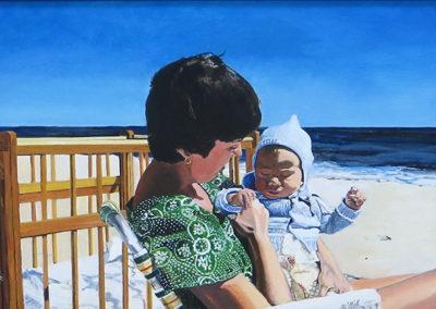 """Viv and Jeff""  – Acrylic on panel –  23"" W x 17"" H $2,000.00"