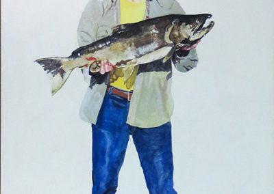 """Self Portrait in Ecstasy""  Acrylic on canvas 36 1/2"" W x 48"" H  – $5,000.00"