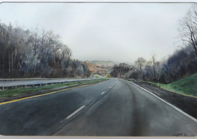 """New York Thruway North""  – Watercolor on paper – 