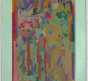 """Peter Arakawa  """"Cat Toy"""" mixed media and acrylic on panel"""