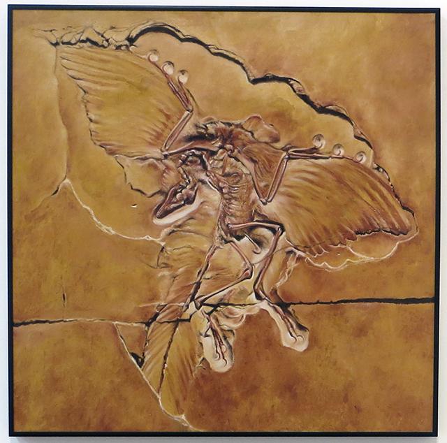 """Fossil 2"" Neil Besignano   -oil on canvas"