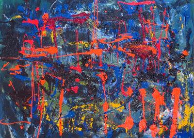 "Rita Herzfeld  ""Orange Light""  acrylic on canvas"