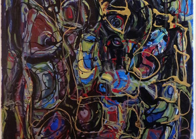 "Rita Herzfeld ""Pensive Mood""  acrylic on paper"
