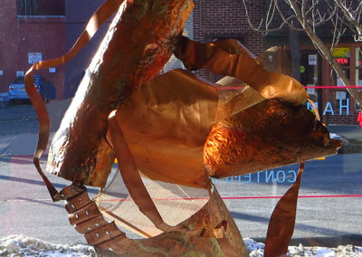 """Ellen Rebarber  """"Rejoice"""" Copper sculpture"""