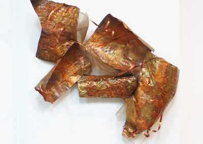 """Ellen Rebarber  """"Sensuous Flow""""  Copper sculpture"""