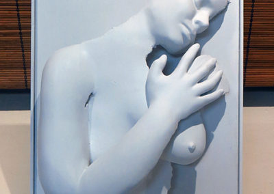 "Bill Giacalone   ""Woman in Plaster""  Plaster relief sculpture"