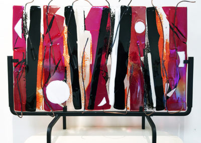 """""""Illuminating Inspiration""""   fused glass and copper wire,  by Ellen Rebarber"""