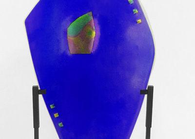 """""""Blueness Abundant""""   fused glass, by Ellen Rebarber"""