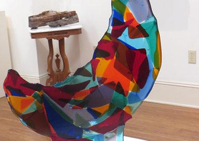 """""""Mosaic Moon"""" – fused glass by Ellen Rebarber"""