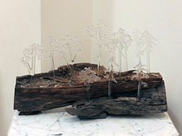 """""""Winter Freeze""""   fused glass and wood, by Ellen Rebarber"""