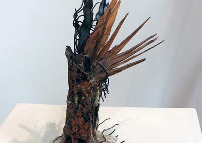 """Winged Victory""  mortar, copper, wood and found objects by Eric Beckerich"