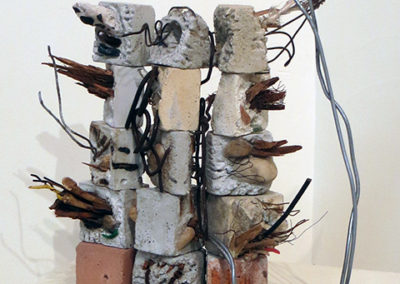 """""""Architectural Expression"""" mortar and found objects,  by Eric Beckerich"""