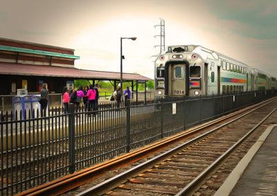 "Bill Bonner ""Bound Brook Station""  enhanced digital photograph SOLD"