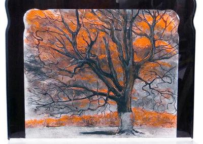 "Brian McCormack ""Devil's Tree"" mixed media, charcoal from tree"