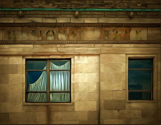 """Bill Bonner """"National Bank"""" enhanced digital photograph"""