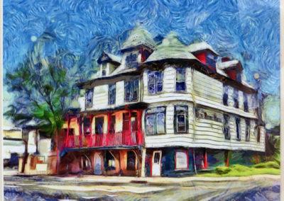 "Bill Bonner ""Bound Brook Hotel (R.I.P.)"" enhanced digital photograph"
