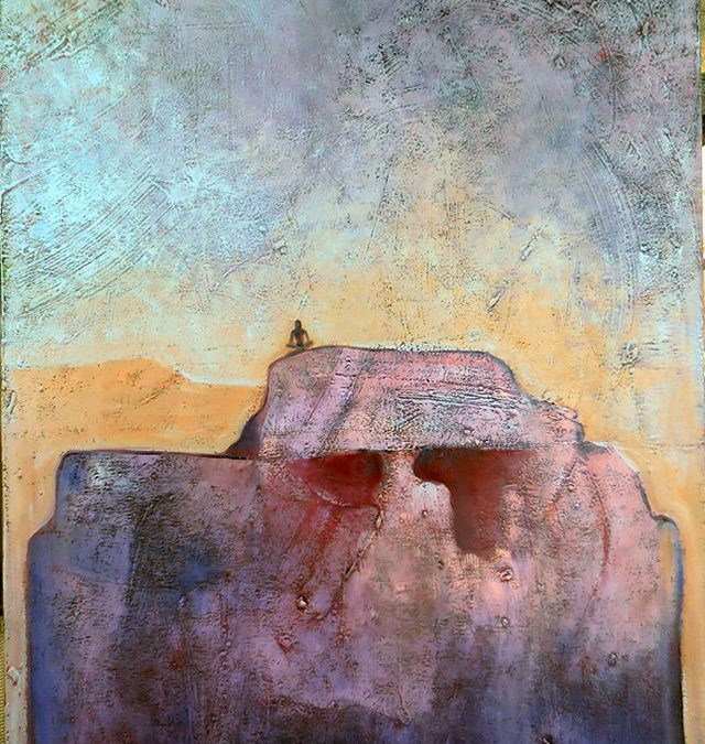 The Mountain of the Wise – oil on canvas – $1,000.00