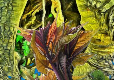 "Bill Bonner ""Wet Flame"" digital composite print"