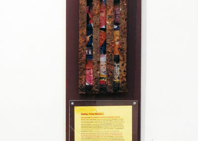 """Fred Cole   """"Guilty Your Honor""""  mixed media wall sculpture"""