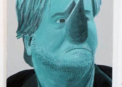 "Larry McKim  ""Steve Bannon""  acrylic on canvas"