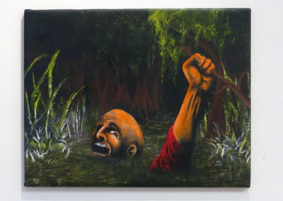"""Neil Besignano """"This Swamp Is Killing Me"""" oil on canvas"""