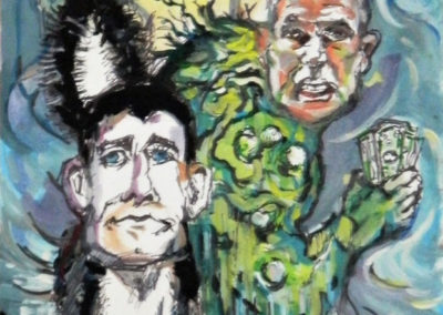 "Steven Epstein ""Leaving Swamp"" gouache, pencil and marker on paper"