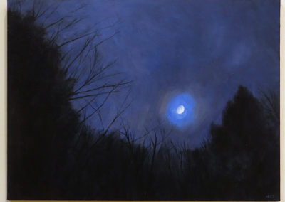 "Antonietta Kies ""Blue Moon"" oil on linen"