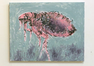 "Janice Gossman ""Flea""  acrylic on canvas"