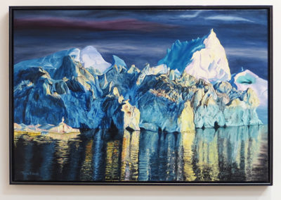 "Thomas Pickarski ""Ice Carnival"" oil on stretched canvas"