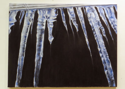 "Neil Besignano ""Icy Blue Icicles"" oil on canvas"