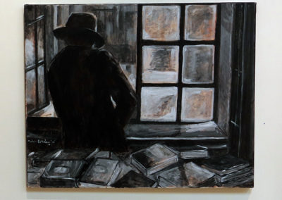 "Michele Guttenberg ""Study at the window light"" oil on canvas"