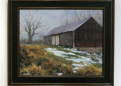 "Debora Thedinga ""Winter Thaw"" oil on canvas"