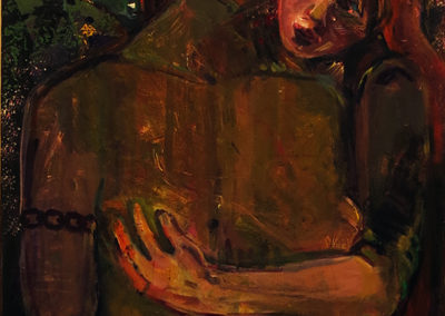 """The Lovers"" acrylic on canvas, 36″ x 24″ $275.00"
