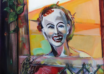 """""""Mannequin Watch Redone""""   acrylic on canvas, 30″ x 24″ $280.00"""