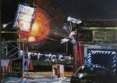 """Night Light"" acrylic on canvas 24″ x 30″"