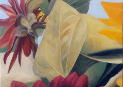"""Elizabeth's Saturday Bouquet # 2"" oil on canvas30""H x 24"" W, SOLD"