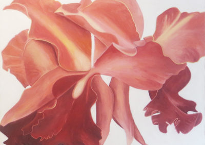 """Orchid # 2"" oil on canvas,  32"" H x 42"" W, SOLD"