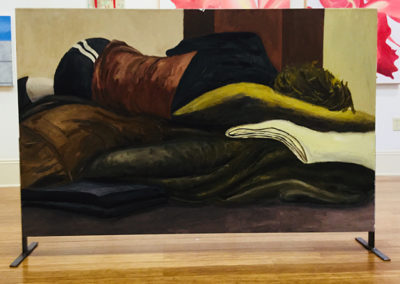 """Sleeping On The Streets #7"" acrylic on canvas, 34""H x 54"" W, $2,000.00"