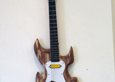 "Brian McCormack ""Arts and Crafts Guitar"" handcrafted from discarded cedar chest & found objects"