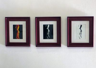 "Job Kunkel ""Fireside"" photograph triptych"