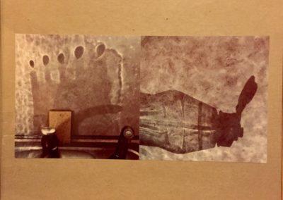 "Janice Gossman   ""Space Station""  photographs on cardboard"